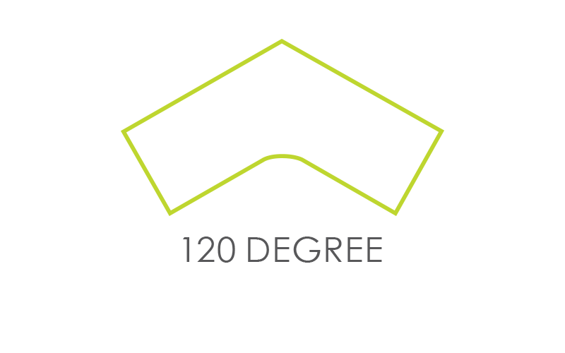 120-Degree Worksurface