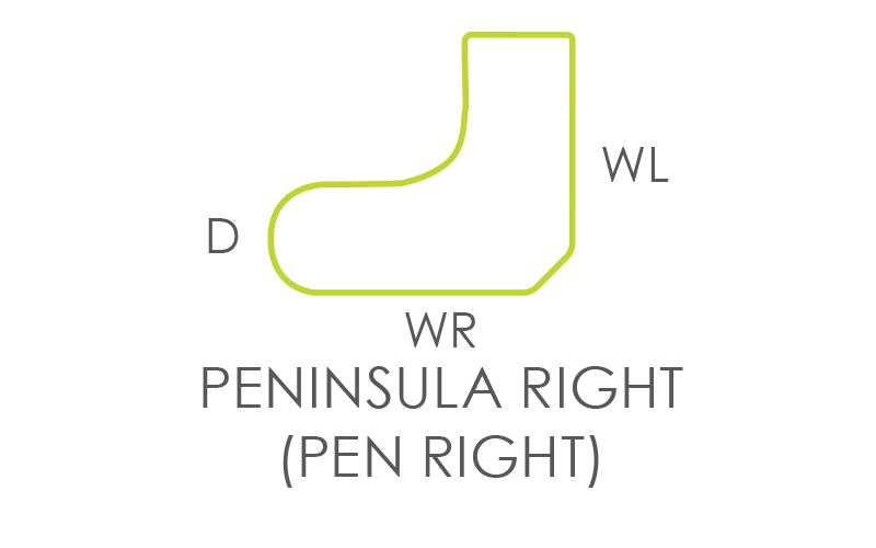 Peninsula Right Worksurface
