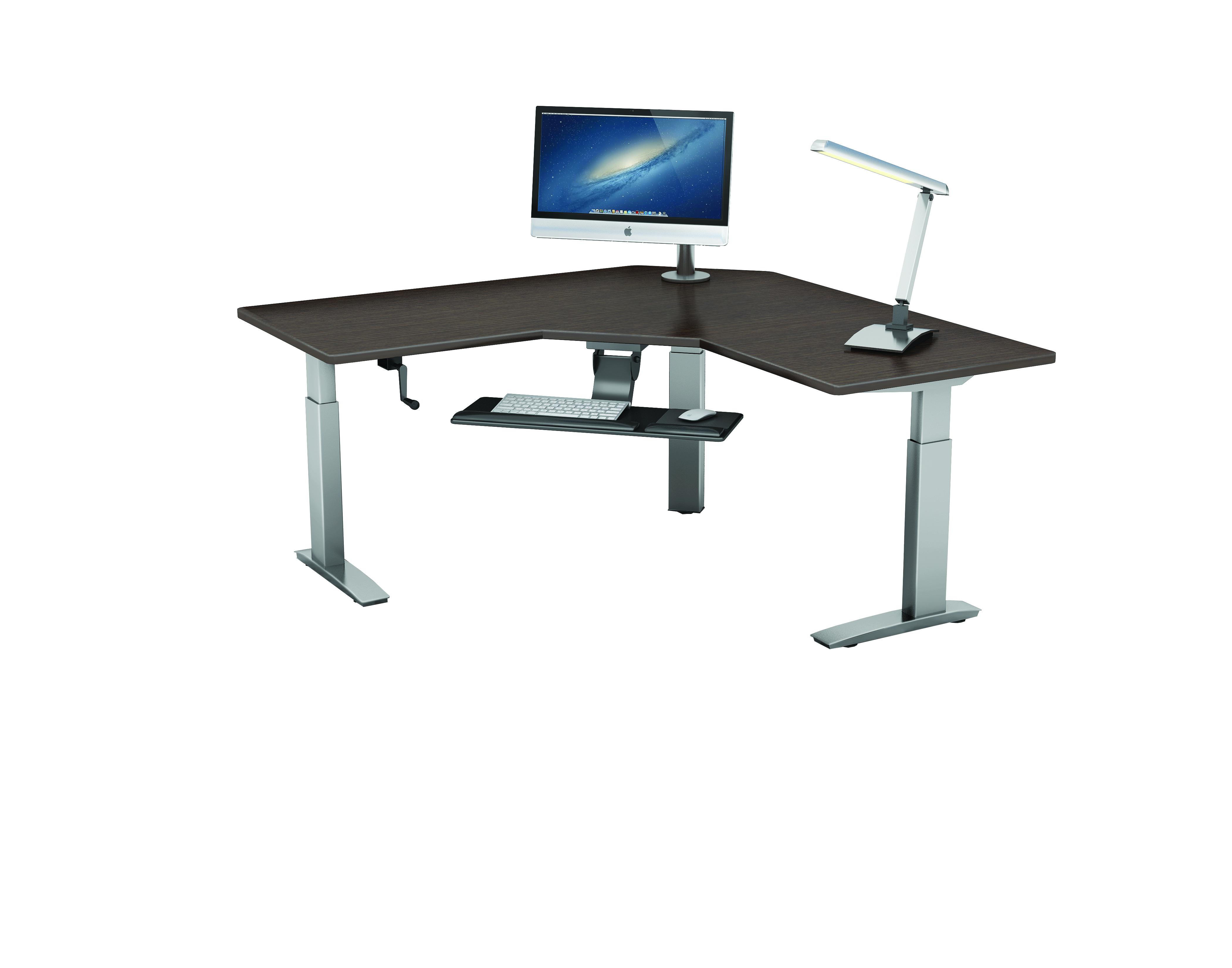 black adjustable matte top product in rated helpful height best frame office customer reviews pcr standing crank standard desk desks